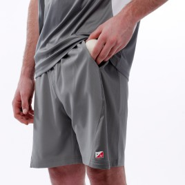 SHORT POLYESTER HOMME GRIS