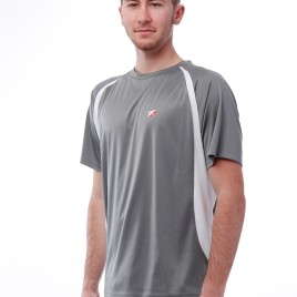 Tee-Shirt POLYESTER HOMME GRIS